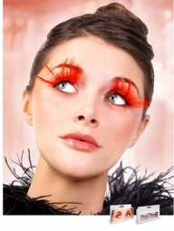 Long Red Feather Lashes for $7.00