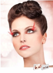 Wispy Black and Red Feather Lashes for $7.00
