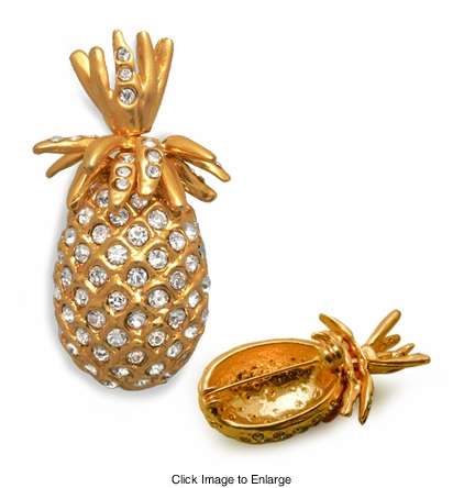 "1.75"" Tall Jeweled Pineapple Pin Broach"
