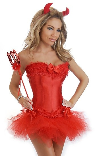 Sexy Red Corset Devil Costume