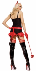 Pinstripe Devil Girl Costume