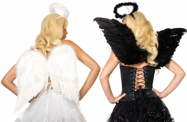Costumes-Angel Costume Kit with Wings and Halo