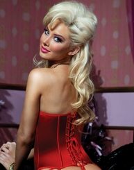Polished Red Satin Corset with Zipper Front