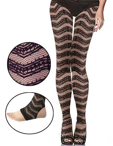 Zig-Zag Lace Stir-up Leggings