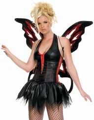 Costumes-Fire Fairy Glitter Wings for $12.00