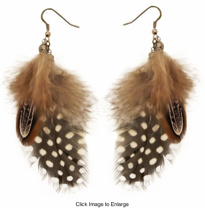"4.5"" Feather Earrings"