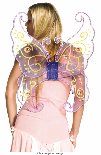 Costumes-Jeweled Lavender Butterfly Wings