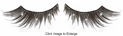 Sexy Feathered False Eyelashes with Crystals on Sale -Buy 1 Get 1 Free