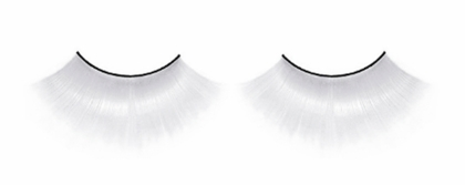 Very Long All White Fake Lashes