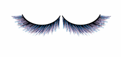Black and Turquoise Blue Metallic Lurex Lashes