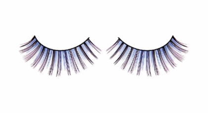 Medium Length Blue and Black Lashes