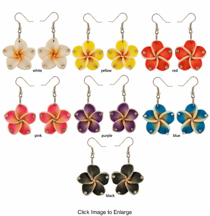 "2"" Hawaiian Flower Earrings"