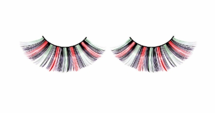 Red, Black Green and Silver Party Lashes