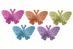 Glitter Star or Butterfly Barrette Hair Clips