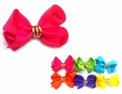 "4"" Ribbon Bow Hair Clip"