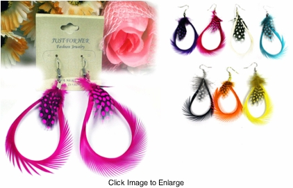 "3"" Feather Dangle Earrings"