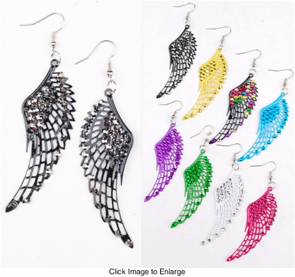 "3"" Jewelled Wing Earrings"