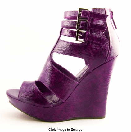 "5"" Wedge Shoes ""Giza"" Purple from Michael Antonio"
