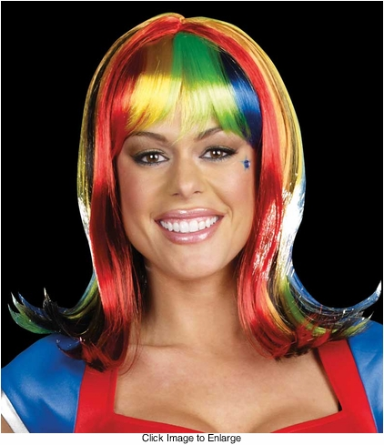 Light-Up Rainbow Wig