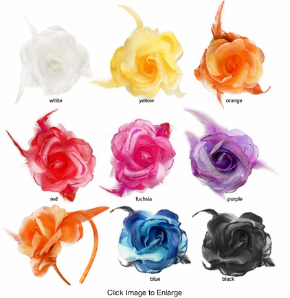 "3.5"" Chiffon and Satin Flower Headband"