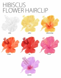 Hibiscus Hawaiian Flower Hair Clip