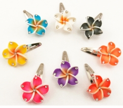 "1.15"" Hawaiian Flower Snap Hair Clip"