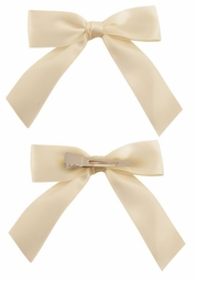 "3"" Satin Bow Hair Clips Pair"