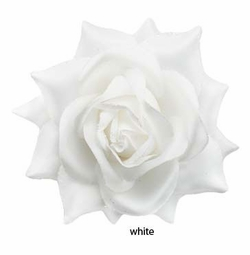 "5"" Perfect Wedding White Flower Hair Clip"