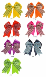"4"" Double Ribbon Bow Hair Clip"