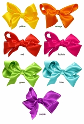 "4"" Satin Bow Hair Clip"