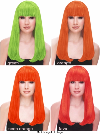 Premium Long Kelly Wig in Bright Colors