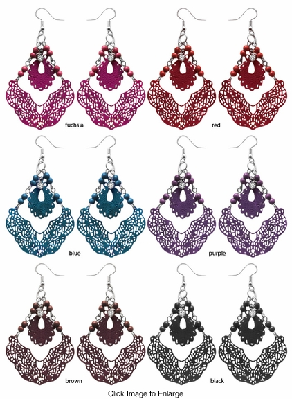 "3"" Dangle Filigree Earrings"