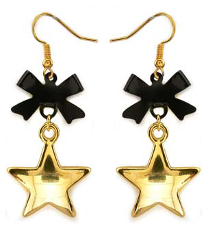"2"" Star and Bow Earrings"