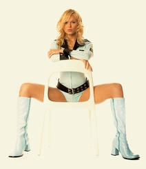 "3"" Go-go Boots in Baby Blue Vinyl Patent Leather"
