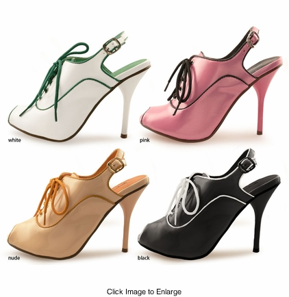 "4"" Shoes with Contrast Trim ""Lyssa"" from Michael Antonio"