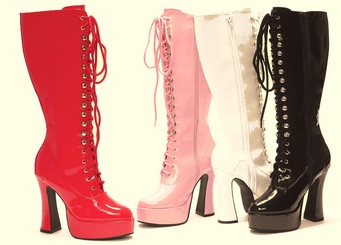 "Lace Up Boots with 5"" Heel"