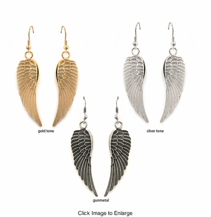"2"" Angel Wings Earrings"