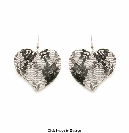 Lace Heart Earrings