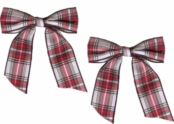 "2.5"" Plaid Gingham Hair Bows Pair"