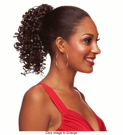 Spiral Curl Drawstring Hair Piece