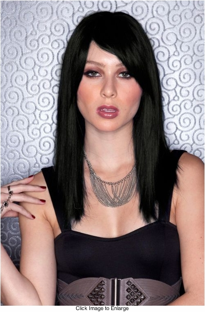 Onyx Black Medium Length Wig