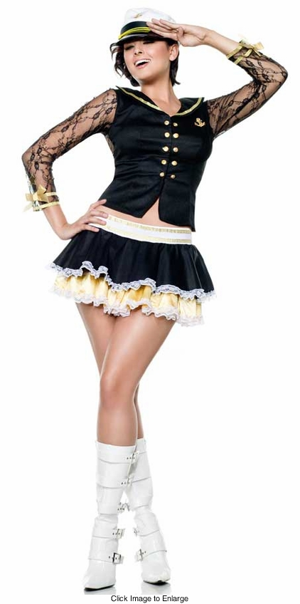 Captain Cutie Costume with Lace Back