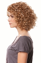 Bouncy Curl Human Hair Blend Wig