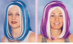 Rave Candy Girl Wigs with Streaks