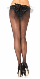 Sheer Pantyhose with Rhinestone Backseam