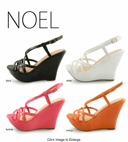 Noel Classic Platform Shoes with Criss Cross Straps