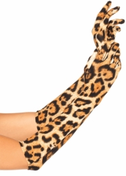 Leopard Elbow Length Gloves