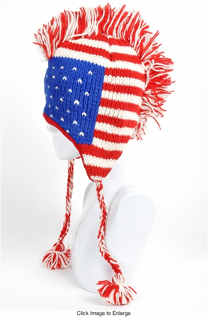 Stars and Stripes Mohawk Hat