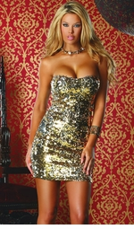 Two Way Gold and Silver Sequin Dress