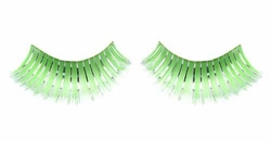Green and Silver False Eyelashes for $10.00